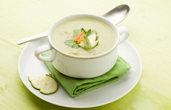 Суп-пюре из свежих кабачков