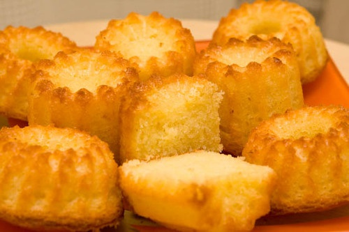 Вкусные лимонные кексы к утреннему кофе