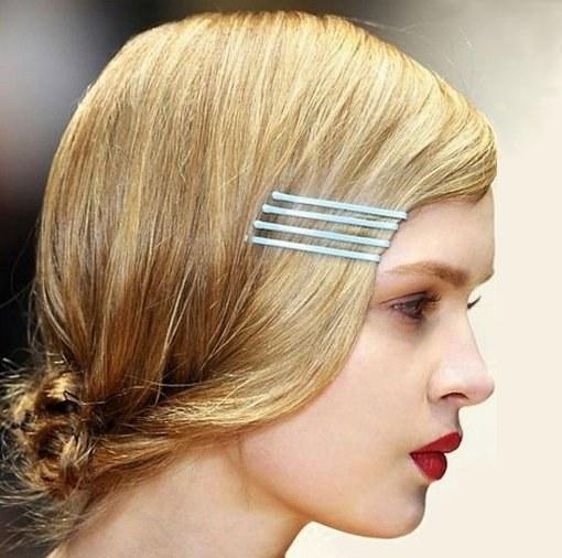 Укладка волос с невидимками