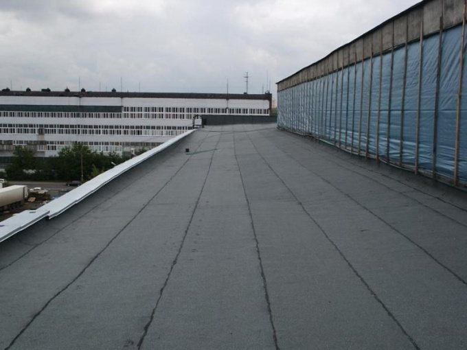 Крыша, покрытая рубероиом