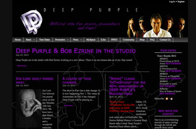 Пример сайта, созданного на Joomla