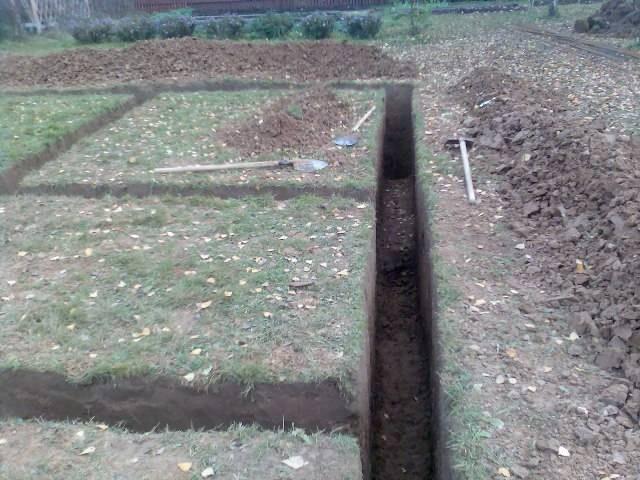 Правильно выкопанная траншея под ленточный фундамент