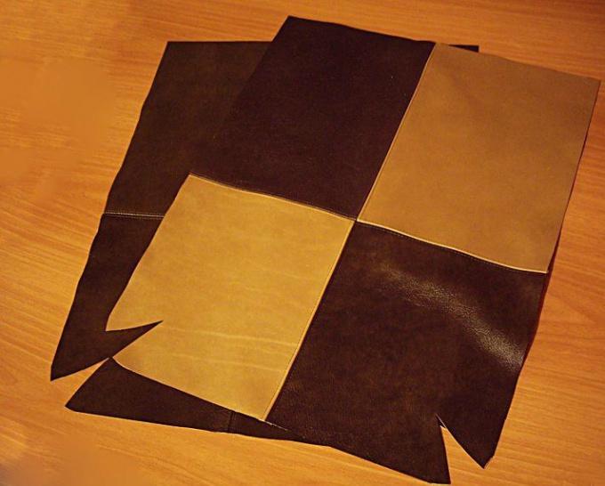 Пошив кожаной сумки своими руками 34