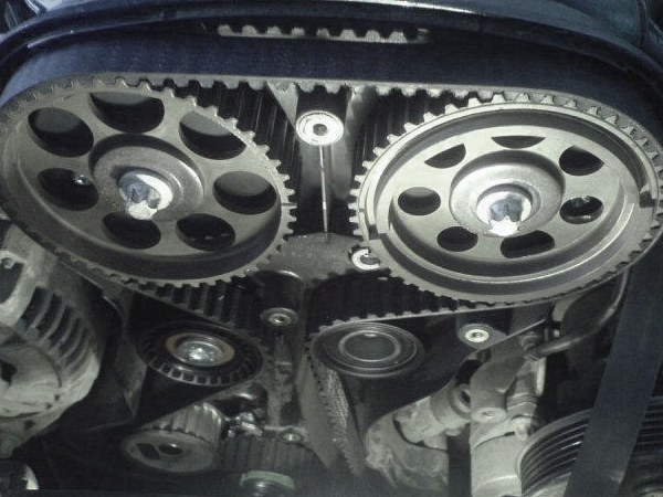 The timing belt on the 16-titlepanel DVS