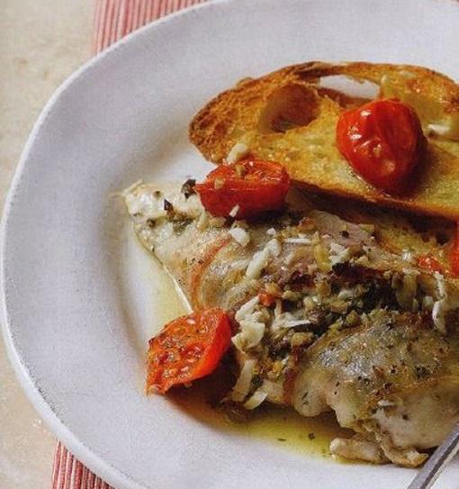 Запеченное куриное филе с оливковой пастой
