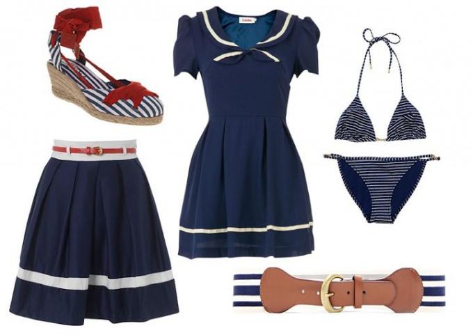 морской стиль в одежде фото