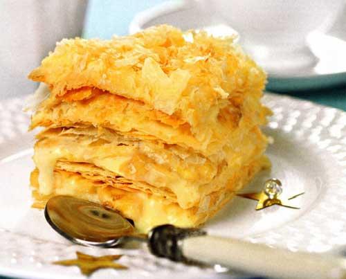 Как приготовить торт «Наполеон» с бананами