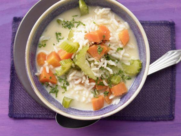 Вкусный греческий рисовый суп