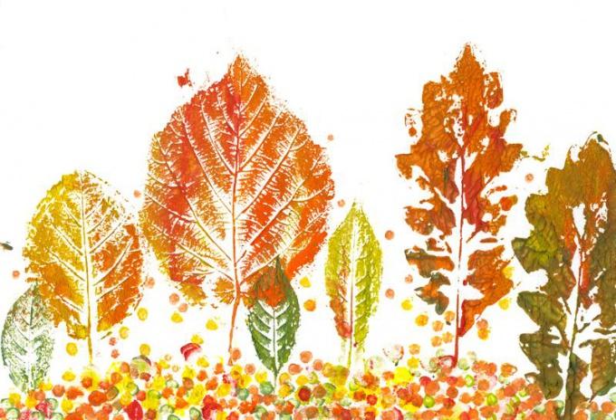 Штампы в форме листьев