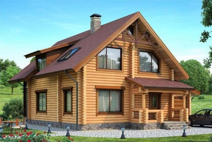 Какой деревянный дом теплее