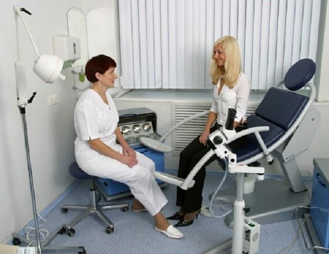 Обследование у гинеколога смотреть