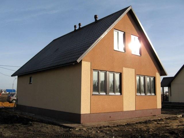 Каркасный дом, обшитый плитами ЦСП