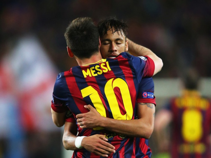 "The main star of ""Barcelona"", playing at number 10 — the Argentine Messi and Brazilian Neymar"