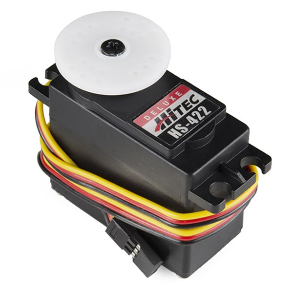 Operation of the servomotor is adjusted by using the feedback channel