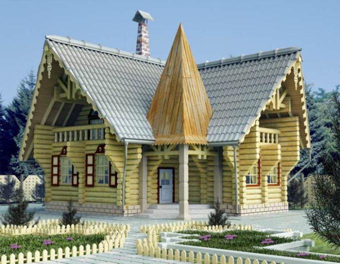 На Руси строили дома из горизонтально уложенных бревен
