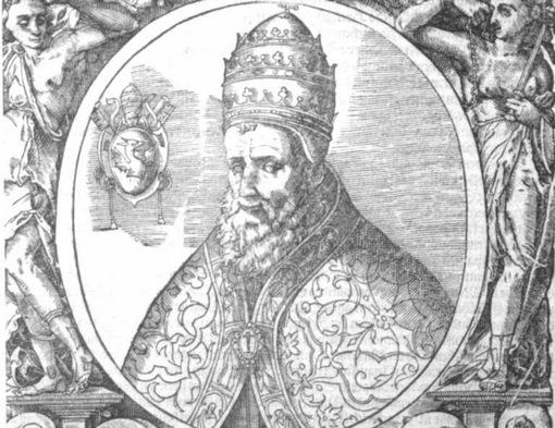 Pope Gregory XIII in the portrait, which is considered lifetime