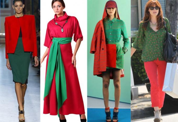 Как сочетаются зеленый с красным