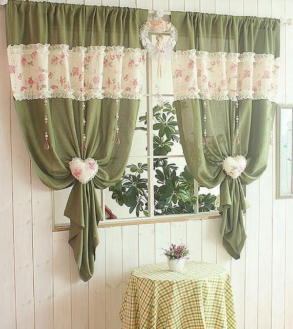 Украсить шторы для кухни