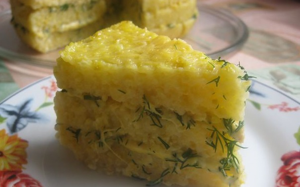 Закусочный торт с сыром