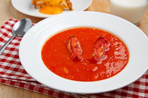 Как приготовить суп из печеных помидоров