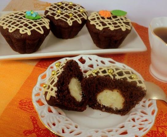 Как приготовить шоколадные маффины с сюрпризом