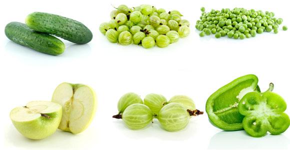 Чем полезны зеленые фрукты и овощи