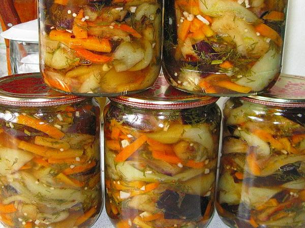зимний салат из баклажанов