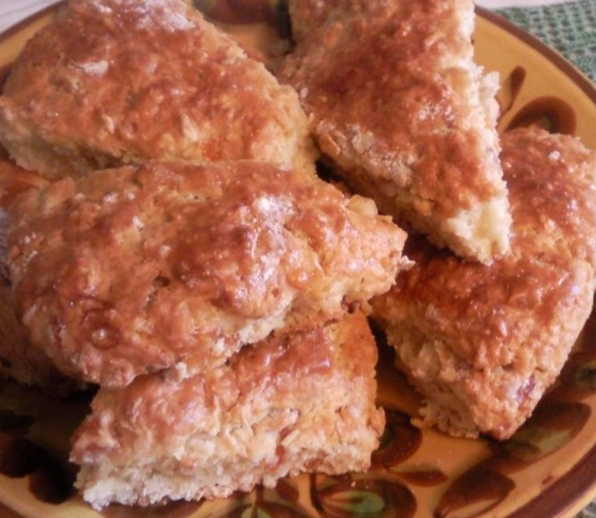 Мягкое печенье с курагой