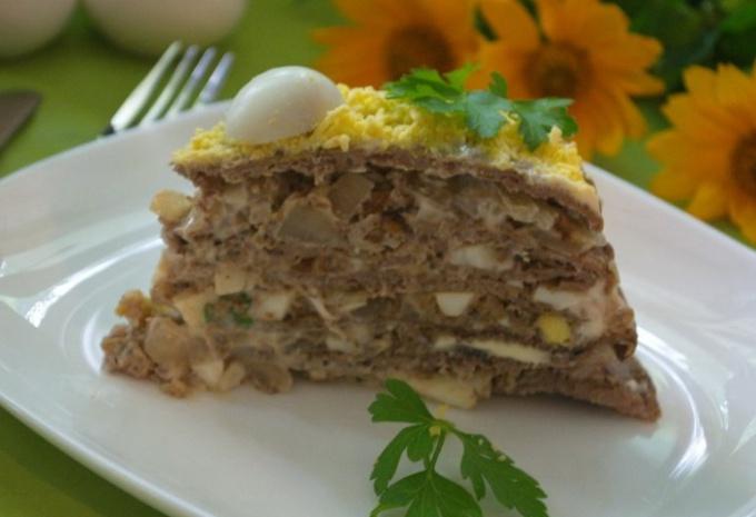 Печеночный торт с ореховым вкусом