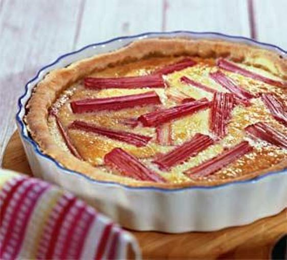 Как приготовить пирог с запеченым ревенем