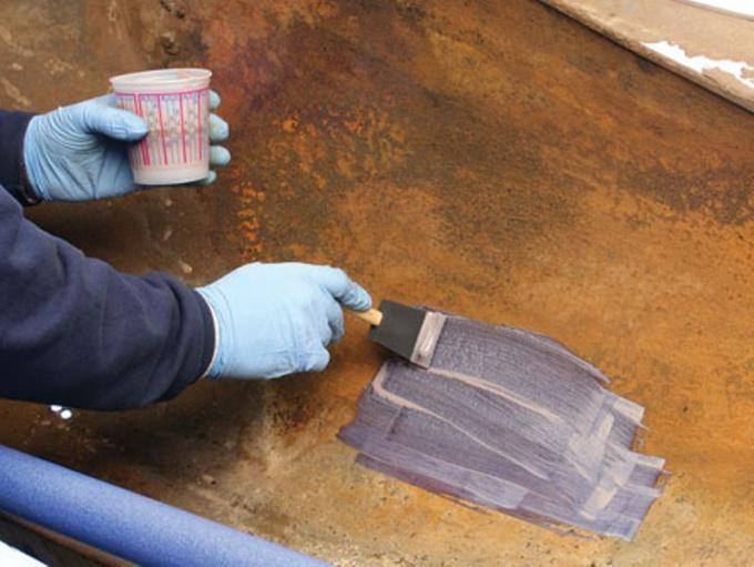 обработка ржавой поверхности