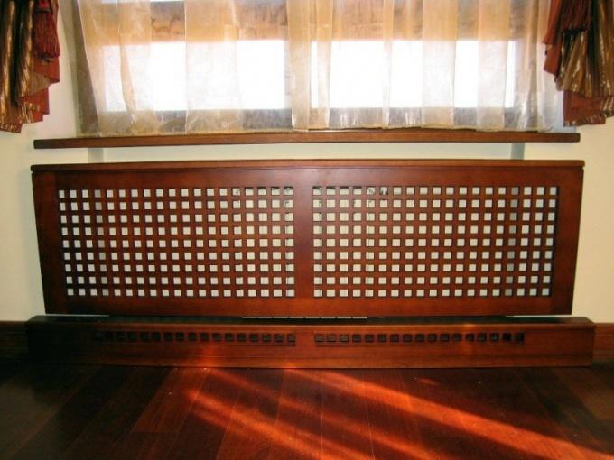 экран из деревянных реек