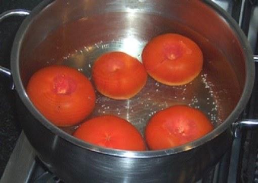 Бланширование помидоров