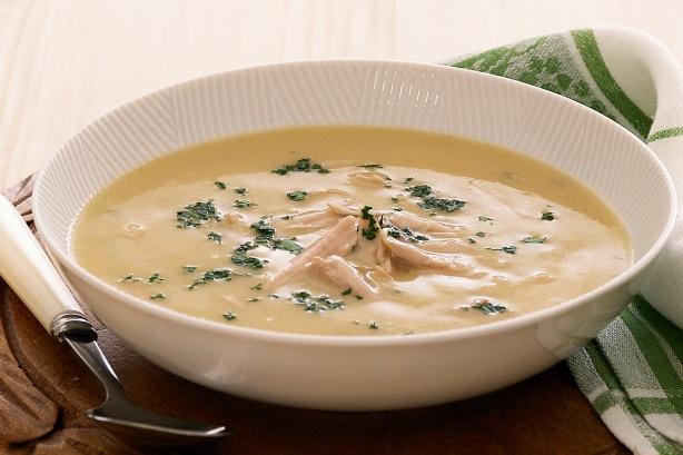 густой куриный суп фото