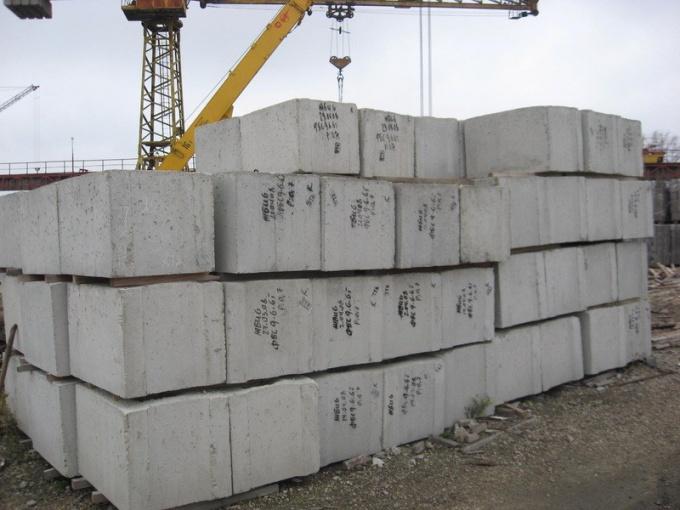 Фундаментные железобетонные блоки