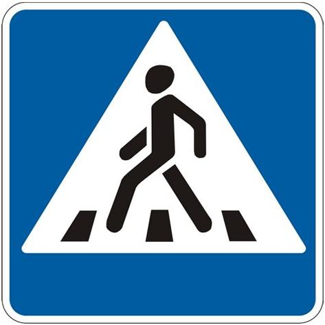 Знак пешеходного наземного перехода в России