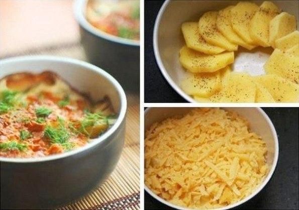 Как приготовить картофель, запеченный в сливках с сыром