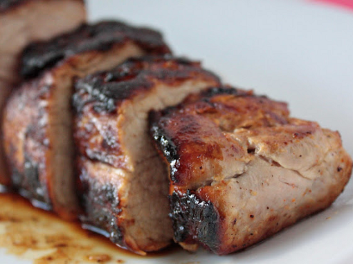 The recipes are simple dishes of pork tenderloin
