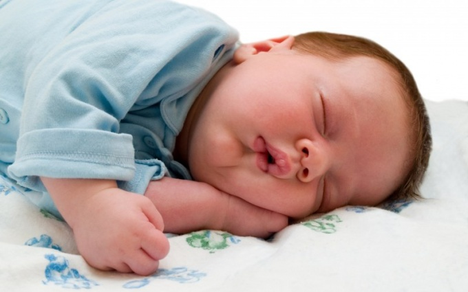 Some sleep must be two-month-old child