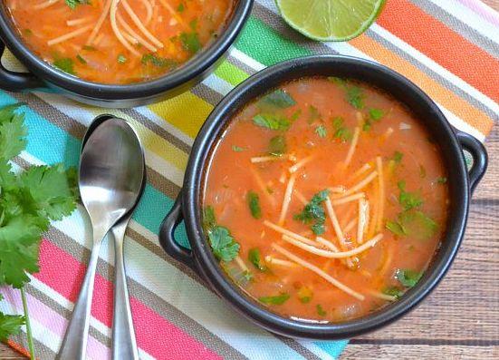 мексиканский суп с вермишелью фото