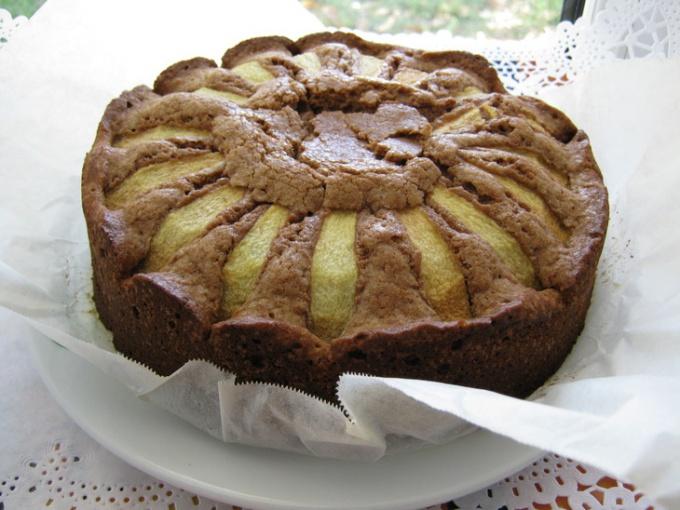 Шоколадно-грушевый бисквит