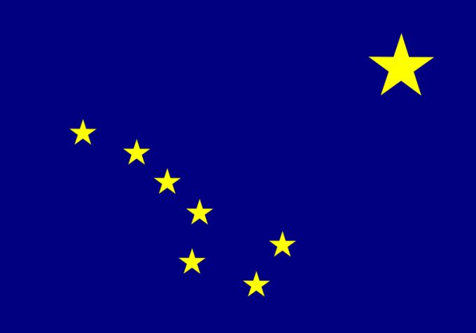 Флаг штата Аляска