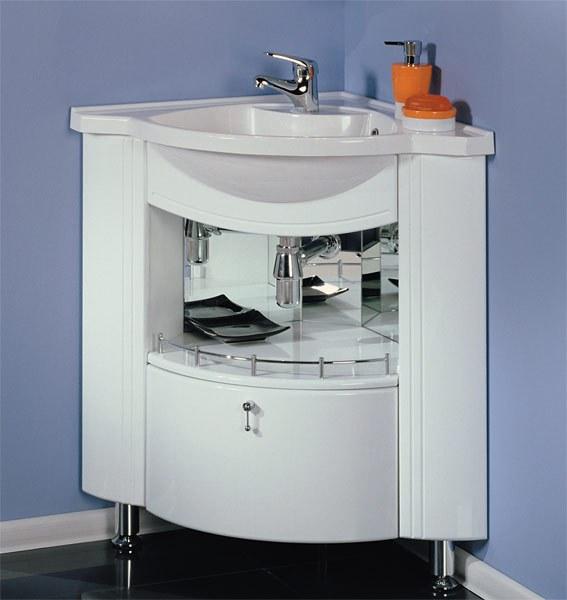Угловая раковина с тумбой для ванной - практичный выбор