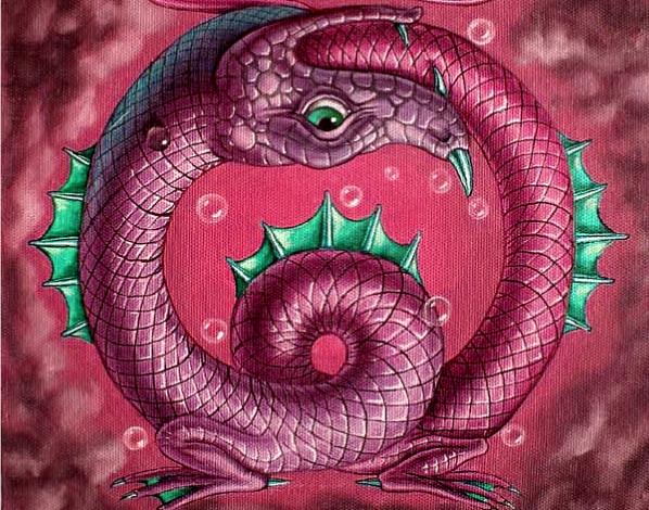 Что символизирует змея, кусающая себя за хвост