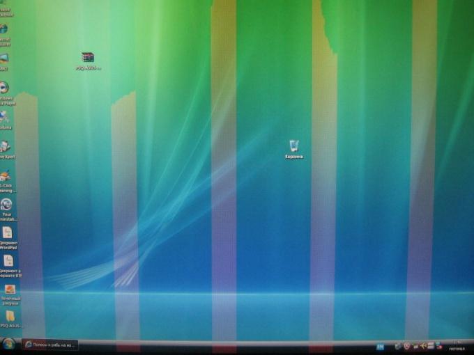 Что делать, если на экране ноутбука появились полосы