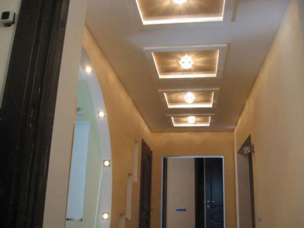 Трехярусный подвесной потолок