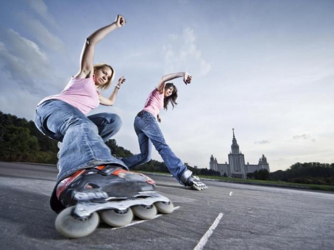 Способы торможения на коньках