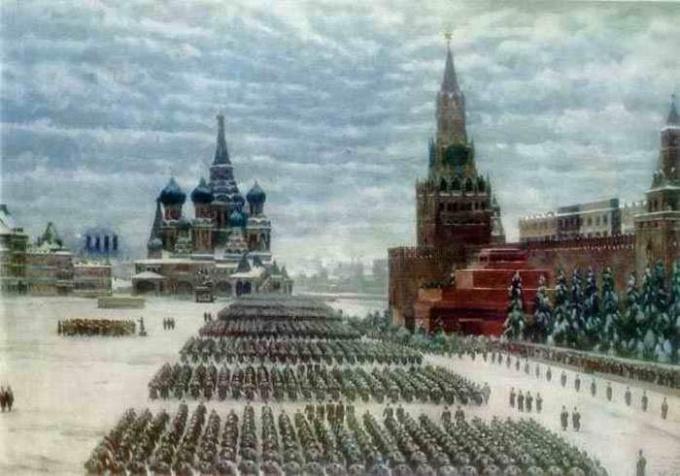 Парад на Красной плозади 7 ноября 1941 года