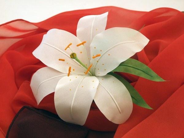 Как сделать лилию канзаши