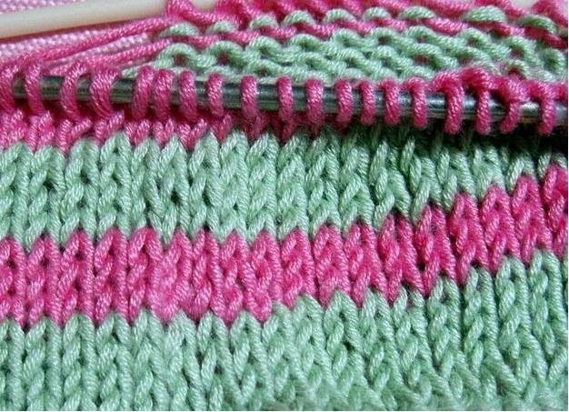 того цветное вязание на спицах видио урок стирки термобелье нельзя